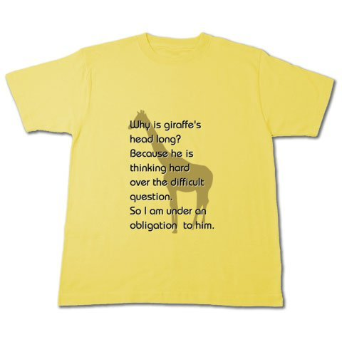 giraffeTシャツ(Tシャツトリニティ)