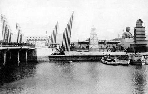千歳橋と博覧会正門
