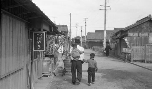 昭和30年初め、富田の通り(