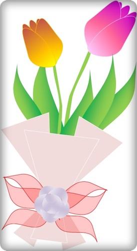チューリップ花束
