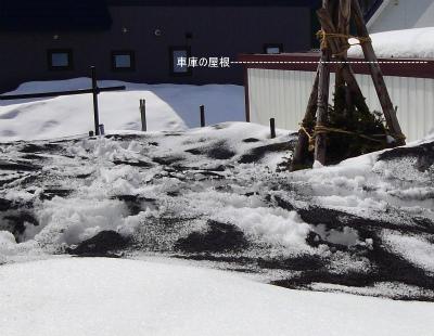 雪の高さVS車庫の高さ