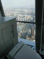 上海ワールドセンターのトイレから