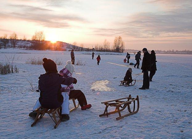 Kinder auf Eis