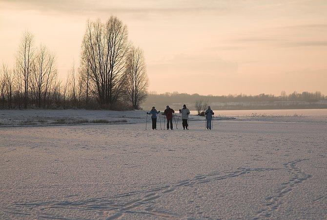 Langlauf auf Eis