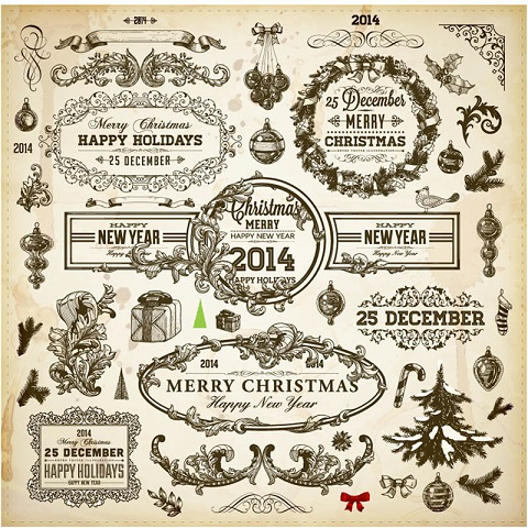 Vintage-Christmas-and-New-Year-2014-vector-design-elements.jpg