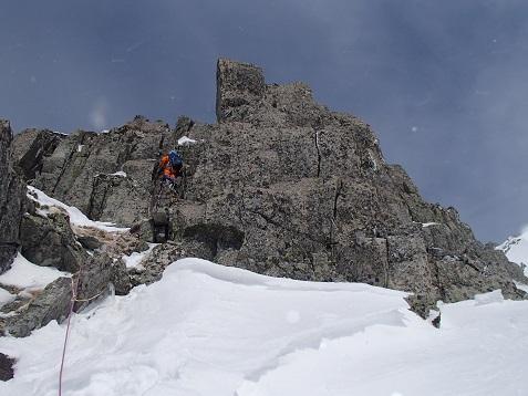 コブ岩峰1ピッチ目