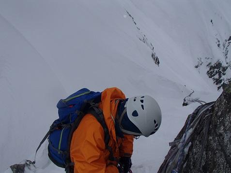 コブ岩からの懸垂下降