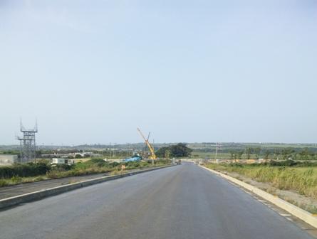 国際線TB起工式:ターミナルへの道路