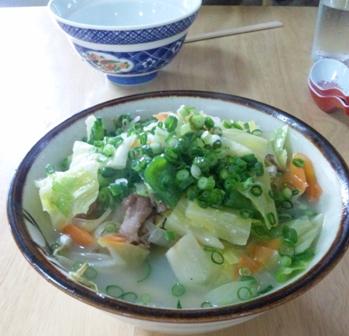 明石食堂:野菜そば(中)