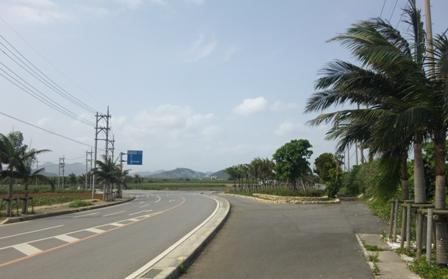国際線ターミナルビル起工式:入り口道路