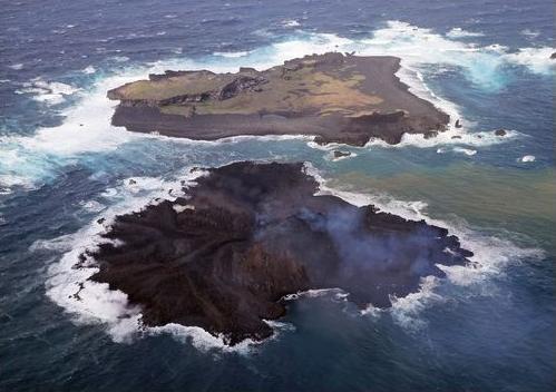 西之島新島拡大