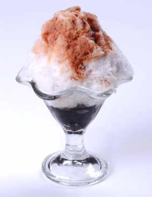 かき氷パフェ カフェラテ