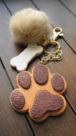 肉球クッキーのキーホルダー2