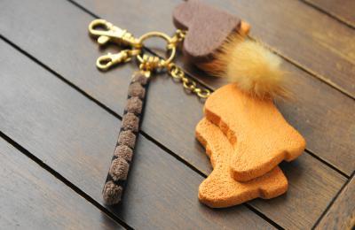 ブーツクッキーキーホルダー1