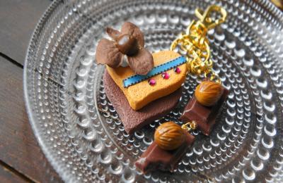 アーモンドチョコとクッキー キーホルダー1