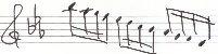 楽譜 モーツァルト 39番-アレグロ 16分音符
