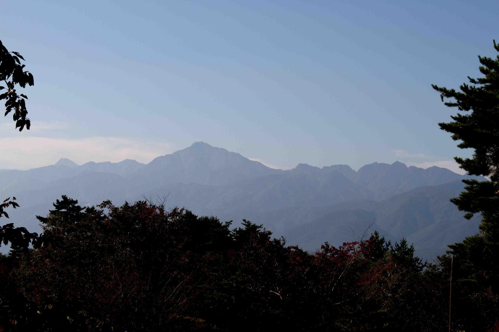 甲斐駒と北岳