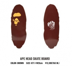 A SKATING APE APE HEAD SKATE BOARD