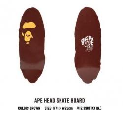 A SKATING APE APE HEAD SKATE BOARD