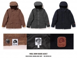 A SKATING APE WOOL SHOW BOARD JACKET