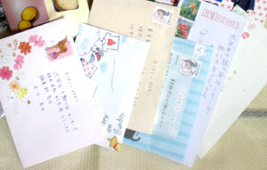 こちらもお手紙~vありがとうございますv