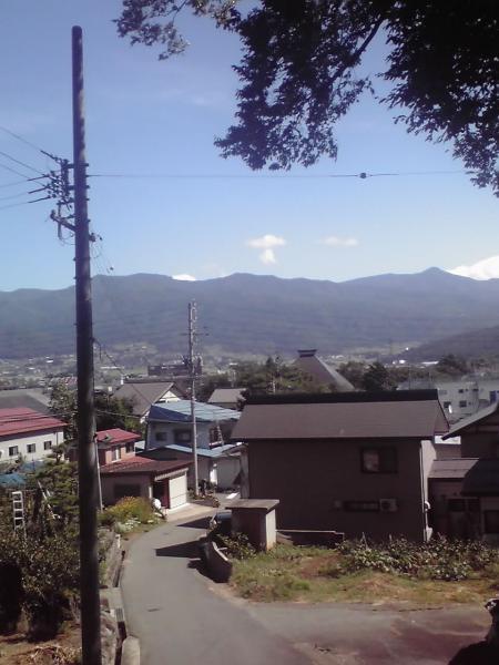 穏やかな飯山の風景