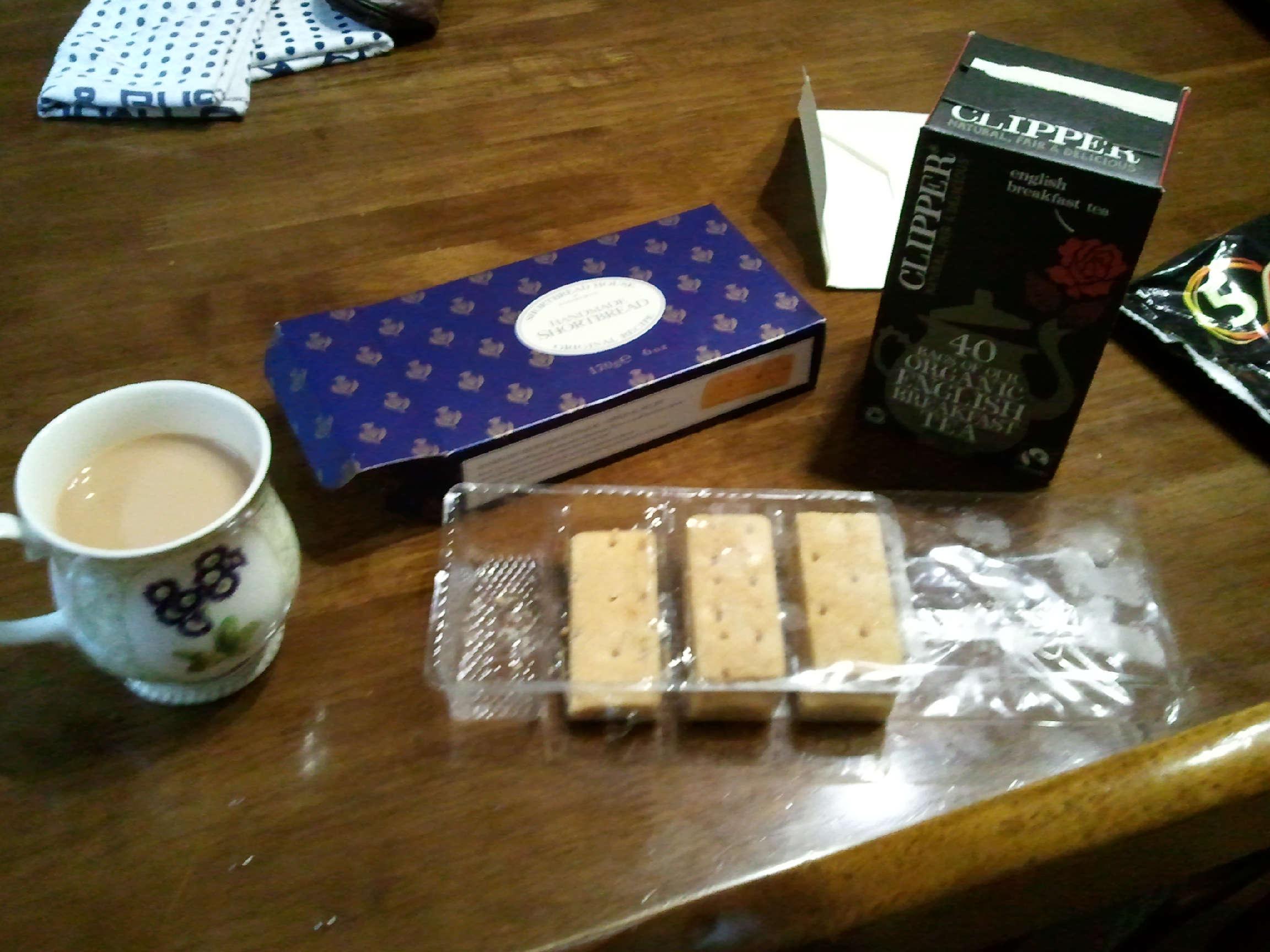 紅茶とお菓子と