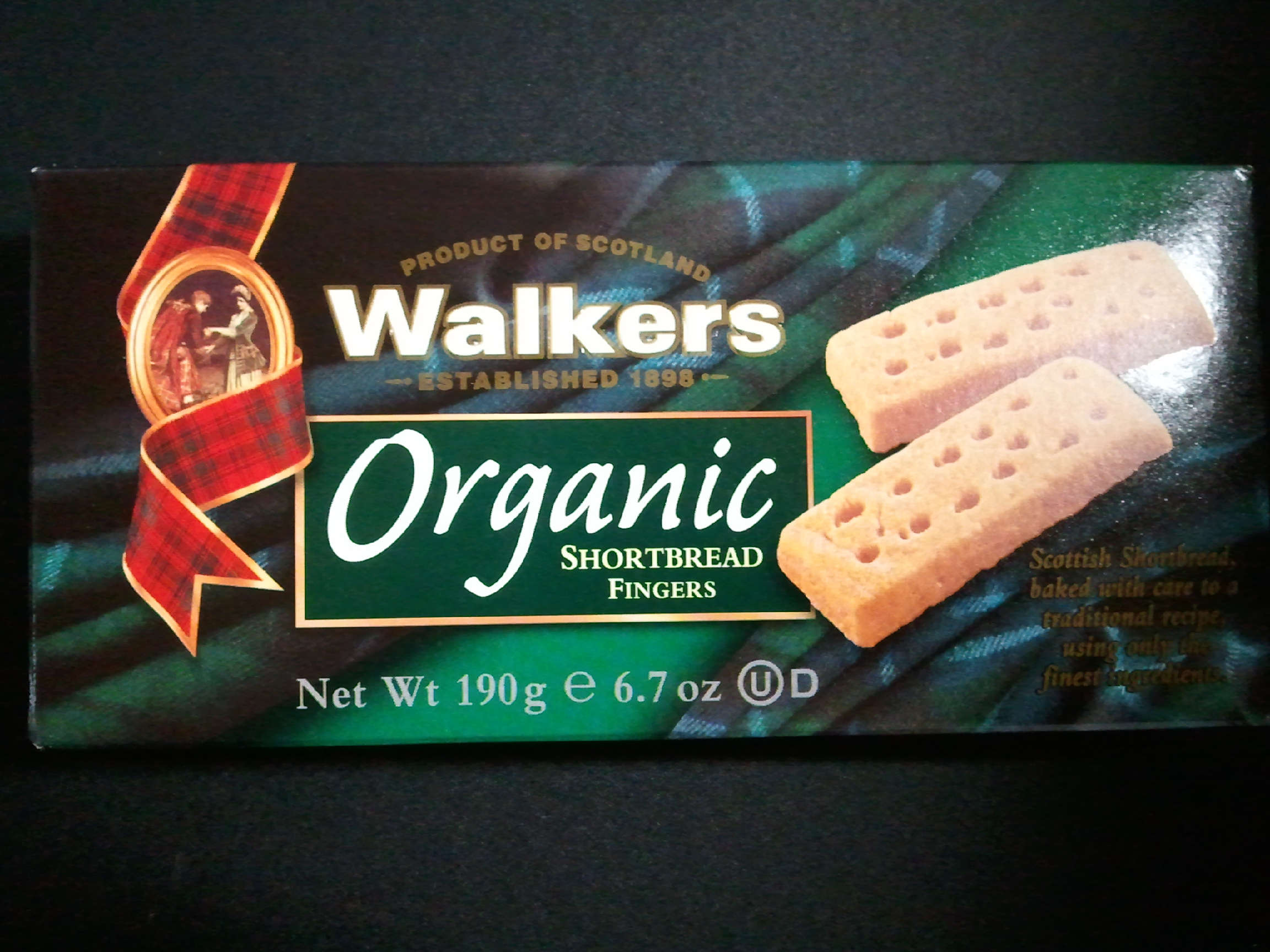 Walkes Organic Shortbread fingers