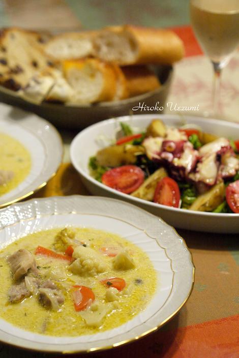 鶏肉とカリフラワーのクリームシチュー