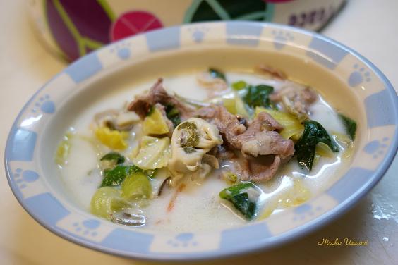 ラムと牡蛎のミルクシチュー