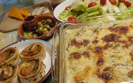 牡蛎とほうれん草のグラタン