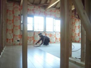 二階フロア施工