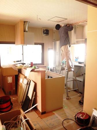 キッチン施工①
