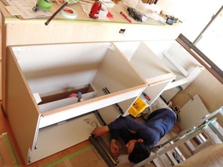 キッチン施工②