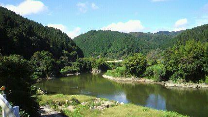 奥矢作湖の一番奥