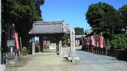 稲沢の17番札所萬徳寺の山門