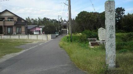 7番札所法華寺の参道