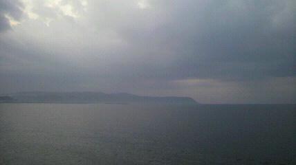 朝早く室戸岬を見たところ
