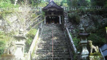 神峰神社の石段