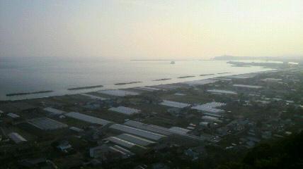 禅師峰寺から桂浜を見た景色