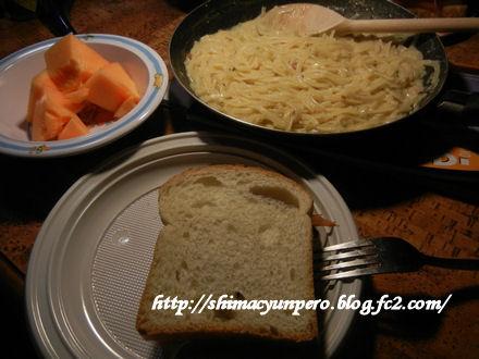 キャンパー生活の食事 1例