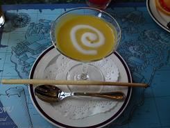 冷製カボチャのクリームスープ~俺の眉毛仕立て~