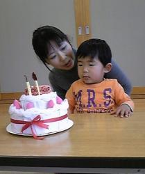ケーキを眺める