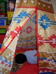 テントの中で①