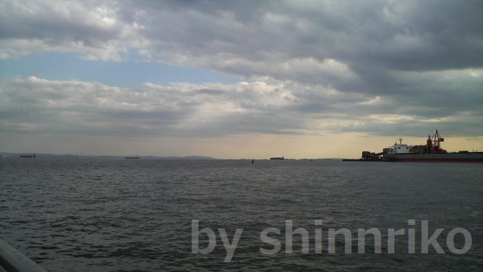 遠くに見える浦賀水道