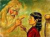 エリザベス姫と白髪の老人