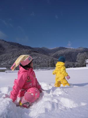 バックカントリーで雪遊び(2013年1月)