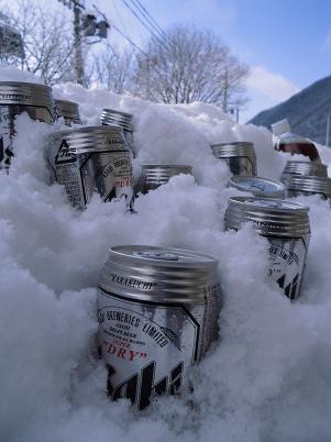 雪で冷し中
