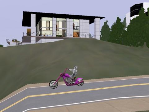 新居とバイク