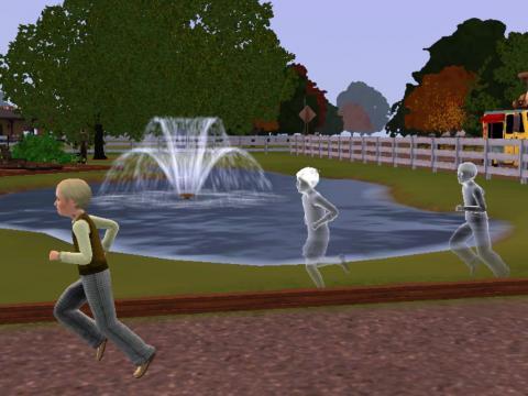 噴水のある庭